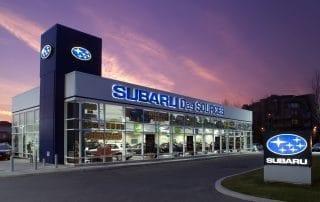 architecture reliance construction dealer concessionnaire auto subaru crépuscule twilight