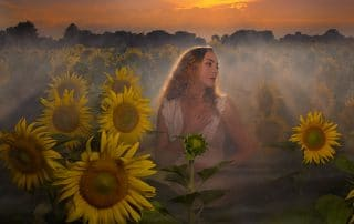 poesie poetry visual visuelle beaute beauty woman portrait femme romantique romantic spiritual spirituel reveur dreamy sunflowers tournesol matin aube dawn twilight crépuscule soleil lever coucher sunrise sunset leah west singer chanteuse